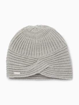 Calvin Klein solid ribbed turban hat