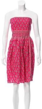 Calypso Strapless Paisley Dress