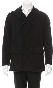 Michael Bastian Double-Breasted Shawl Collar Coat