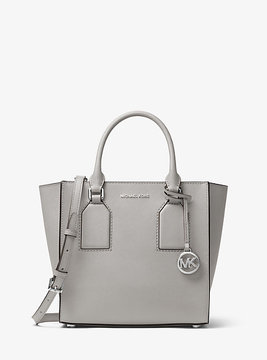 Michael Kors Selby Saffiano Leather Crossbody - GREY - STYLE