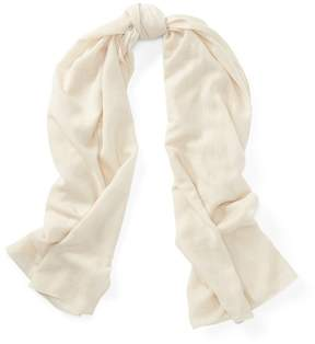 Polo Ralph Lauren | Wool-Cashmere Wrap Scarf | Clubhouse cream