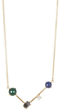 Botkier Stone Accented Mini V Pendant Necklace