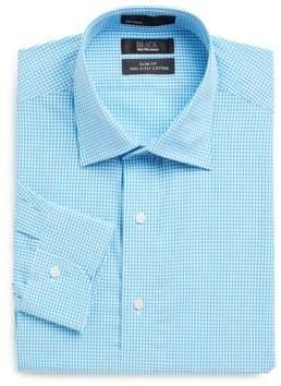 Saks Fifth Avenue BLACK Slim-Fit Gingham Dress Shirt