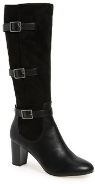 Bella Vita Women's Talina Ii Belted Knee High Boot
