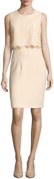 Ava & Aiden Women's Lace Overlayer Top Sheath Dress