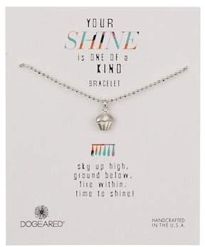 Dogeared Sterling Silver Your Shine Cupcake Bracelet