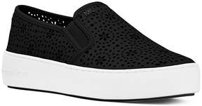 Michael Kors MICHAEL Women's Trent Perforated Leather Slip-On Sneakers
