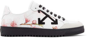 Off-White Suede-trimmed Printed Leather Sneakers