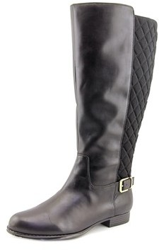 Isaac Mizrahi Tally Wide Calf Round Toe Leather Knee High Boot.