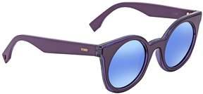 Fendi Blue Mirror Round Sunglasses FF 0196/S