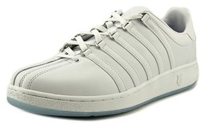 K-Swiss Classic Vn Men Round Toe Leather White Sneakers.