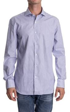 Aspesi Men's Blue Cotton Shirt.
