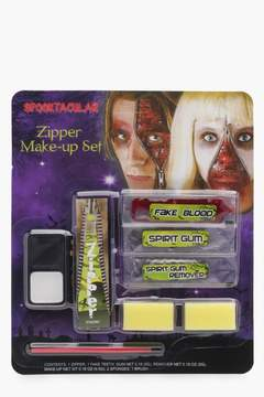 boohoo Halloween Zombie Zipper Face Make Up Kit