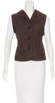 Agnona Quilted Suede Vest w/ Tags