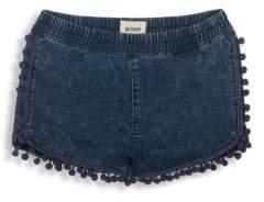 Hudson Girls Chambray Pom-Pom Shorts