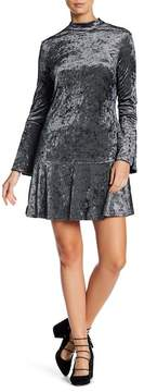 ABS by Allen Schwartz Collection Mock Neck Long Sleeve Shift Dress