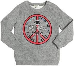 Kenzo Peace 4ever Printed Cotton Sweatshirt