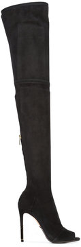 Balmain open-toe knee boots
