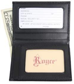 Royce Leather Men's Double Id Flip Credit Card Wallet 121-6.