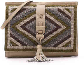 Women's Nanette Lepore Leather Clutch -Green Multicolor