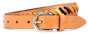 Isabel Marant Zitty whipstitch leather belt