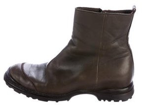 CNC Costume National Leather Ankle Boots