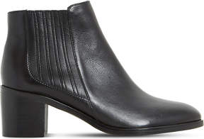 Dune Ladies Black Peter Leather Ankle Boots