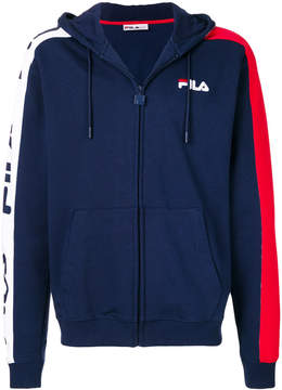 Fila logo zip hooded sweatshirt