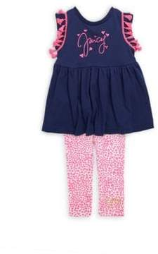 Juicy Couture Little Girl's Two-Piece Heart Top and Leggings Set