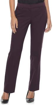 Apt. 9 Women's Torie Satin Waistband Curvy Straight-Leg Dress Pants