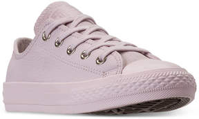 Converse Little Girls' Chuck Taylor All Star Leather Ox Casual Sneakers from Finish Line