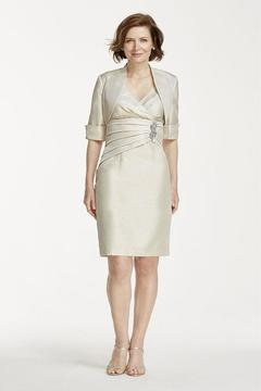 Cachet 56936 Pleated Empire Sheath Dress with Bolero Jacket
