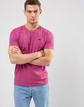 Hollister Crew T-Shirt Slim Fit In Orange