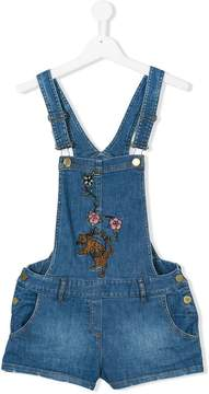 Zadig & Voltaire Kids TEEN embroidered dungarees