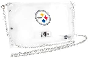 clear Officially Licensed NFL Envelope Purse - Steelers