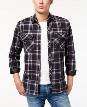 Rip Curl Men's Dabeave Fleece-Lined Plaid Flannel Shirt