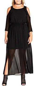 City Chic Plus Size Women's Cold Shoulder Maxi Dress