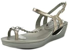 Andrew Geller Casidy Open Toe Synthetic Wedge Sandal.