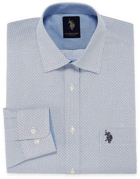 U.S. Polo Assn. USPA Uspa Dress Shirt Long Sleeve Geometric Dress Shirt - Slim