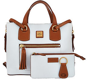 Dooney & Bourke As Is Leather Shopper with Accessories - ONE COLOR - STYLE