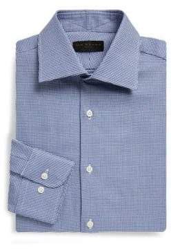 Ike Behar Regular-Fit Houndstooth Dobby Cotton Dress Shirt