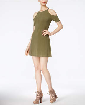 Bar III Pleated Cold-Shoulder Dress, Created for Macy's