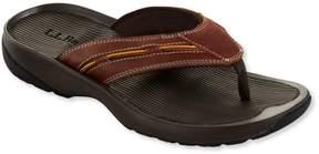 L.L. Bean L.L.Bean Men's Freeport 1912 Flip-Flop Sandals, Leather