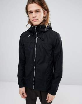 Pull&Bear Zip Through Hooded Jacket In Black