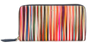 Paul Smith 'Crossover Stripe' zip-around purse