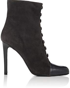 Barneys New York Women's Cap-Toe Suede Ankle Boots