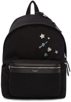Saint Laurent Black Pins City Backpack