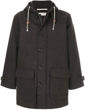 Universal Works single breasted hooded coat