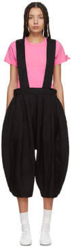 Comme des Garcons Black Crinkled Pleated Suspender Trousers