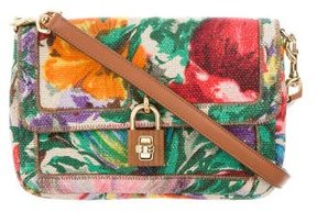 Dolce & Gabbana Floral Print Canvas Crossbody Bag - BROWN - STYLE